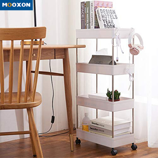 Mobile Multi-Functional Shelves Steel Kitchen Bathroom Home Storage Rack Shelf Trolley
