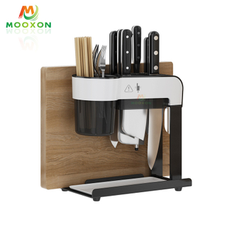 Multi-Purpose Stainless Steel Organizer Utensil Drying Rack Kitchen Knife Block