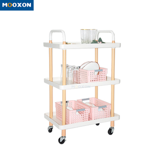 2/3 Tier Kitchen Rolling Utility Service Cart Trolley Storage Cart with Lockable Wheels