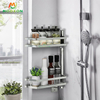 Adjustable 304 Stainless Steel Kitchen Storage Shelf Wall Hanging Corner Rotatable Spice Rack