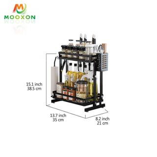 3 Tier Stainless Steel Kitchen Furniture Kitchen Storage Spice Rack Organizer