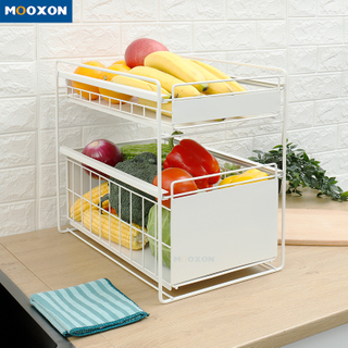 Stackable Sliding Drawer Kitchen Storage Rack Under Sink Organizer Desktop Cabinet Shelf