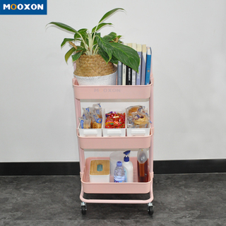 3-Tier High Quality Utility Cart Bathroom Trolley Portable Shelf Storage Rack