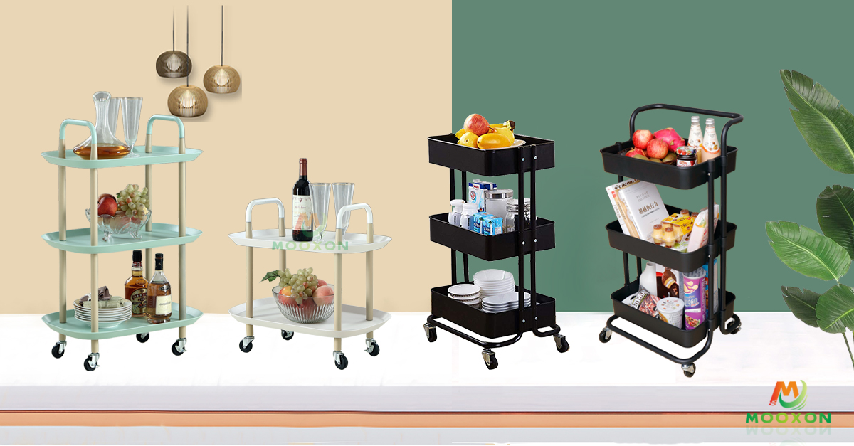 Rolling Storage Stand Hand Trolley Cart