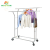 Heavy Duty Garment Coat Hanging Shelves Clothing Organizer Storage Cart Hat Clothes Hanger Rack