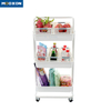 Rolling Trolley ABS Plastic Basket Organizer Shelves Kitchen Bathroom Storage Cart