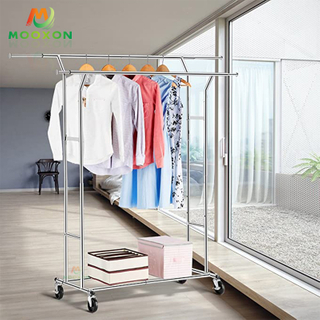 Garment Racks Coat Hanging Shelf Clothing Hat Storage Organizer Rolling Cart Clothes Rack