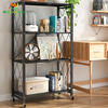 3/4/5-Tier Folding Bookshelf Standing Shelf Display Rack Home Shelf Cart Storage Holders