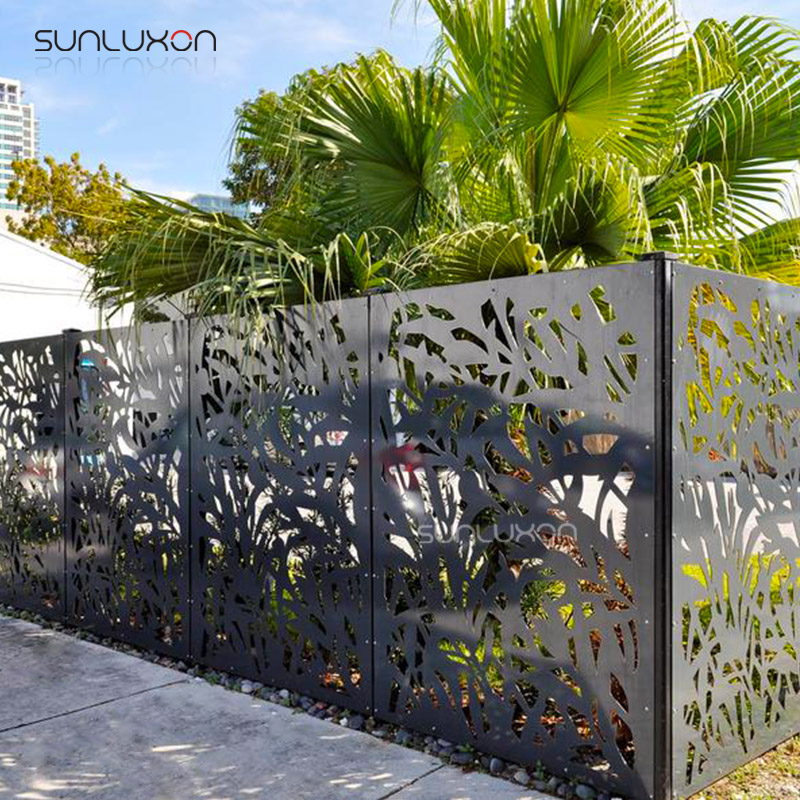 Decorative Perforated Sheet Metal Fence Panels For Garden