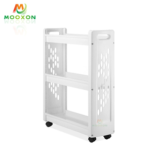 Space Save Home Bathroom Metal Storage Rack Laundry Supplies Storage Cart