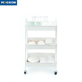 Contracted Kitchen Organizer Four-Wheel In Hand Cart Trolley Home Storage