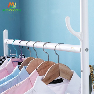 Fashion Store Garment Hanging Display Clothes Rack With Wheels