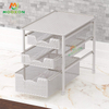 Easy To Install Multifunction Stackable Countertop Shelf Organizer Rack