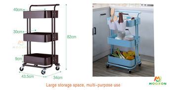 Multi-purpose Home Storage Hand Cart Trolley