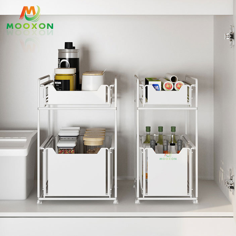 Good Capacity Bathroom Multifunction Expendable Under The Kitchen Sink Storage Drawers