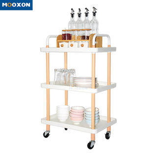 Metal Nordic Mobile Serving Cart Kitchen Space Save Organizer Storage Trolley Cart