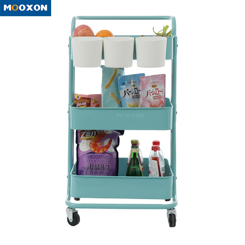 Utility Metal Four-Wheels Rolling Hotel Service Storage Holder In Hand Carts