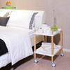Nordic Simple 2 Tier Standing Type Hotel Service Cart Storage Holder Trolley
