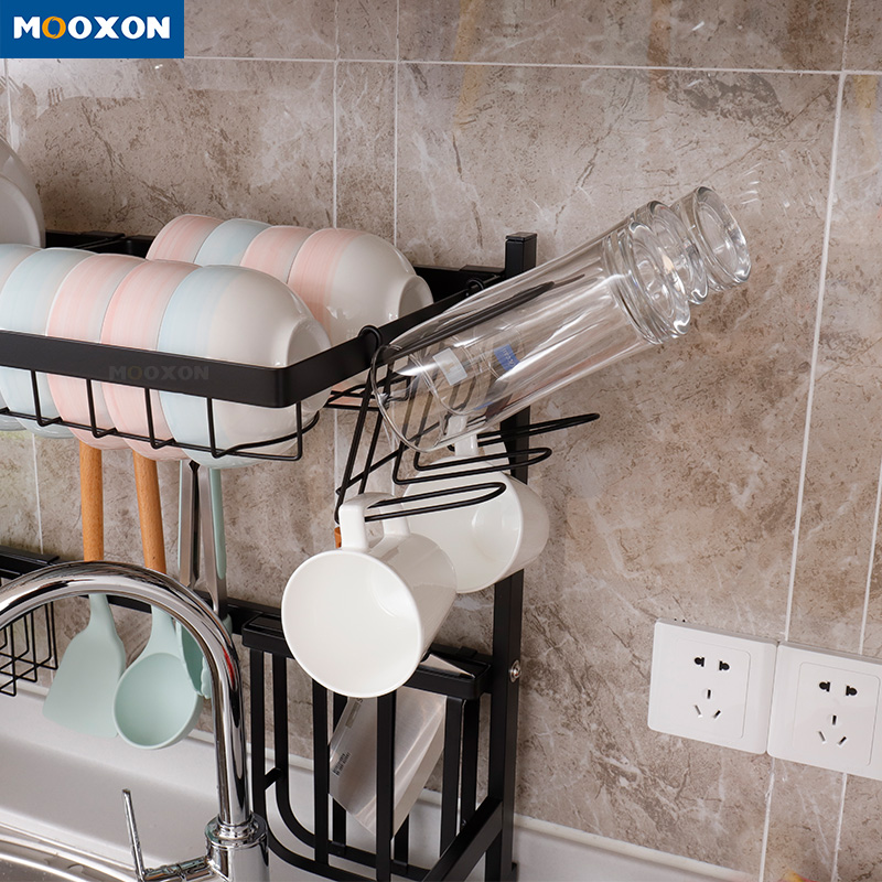 Hot Salels Kitchen Corner Stainless Steel Dish Rack Over Sink