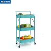 Easy To Instal Plastic Rolling In Hand Cart Trolley Kitchen Storage Holder Rack