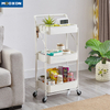 Utility Bedroom Storage Organizer Shelf Kitchen Rolling Carts And Trolleys