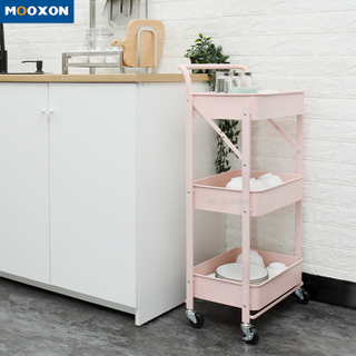 Foldable Rolling Cart Kitchen Furniture Trolley Organizer Home Office Storage Holder