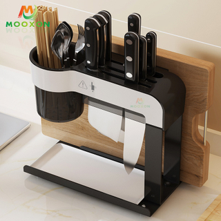 Metal Knife Block Metal Knives Set Holder Storage Organizer Kitchen Rack