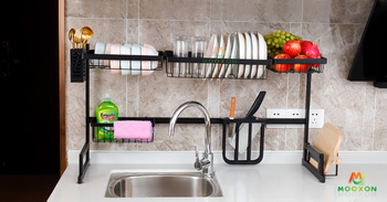 Kitchen Multifunction Over The Sink Dish Rack