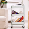 Nordic Design Multifunctional Rolling Home Utility Storage Trolley Cart