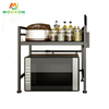 Easily Control Metal Extendable Spice Organizer Kitchen Storage Rack Oven Microwave Stand