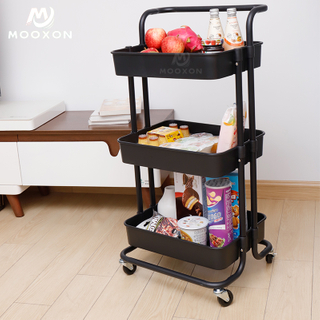 3 Tier Metal Service Cart Tools Organizer Rack Salon Trolley For Bathroom Home Storage