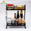 2 /3 Tiers Multifunction Stainless Steel Stand Jars Holder Organizer Storage Shelf Kitchen Spice Rack