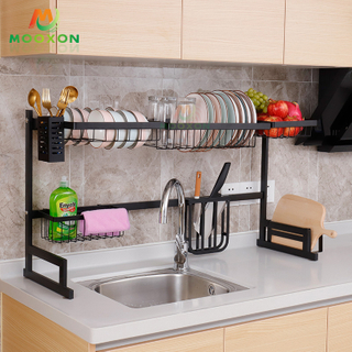 Stainless Steel Standing Kitchen Storage Drainer Organizer Over Sink Dish Drying Rack