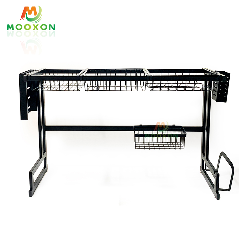 Stainless Steel 86cm Storage And Holders Kitchen Organizer Over The Sink Dish Drainer Rack