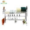 Expandable Kitchen Drying Shelf Dish Storage Holders With Utensil Holder