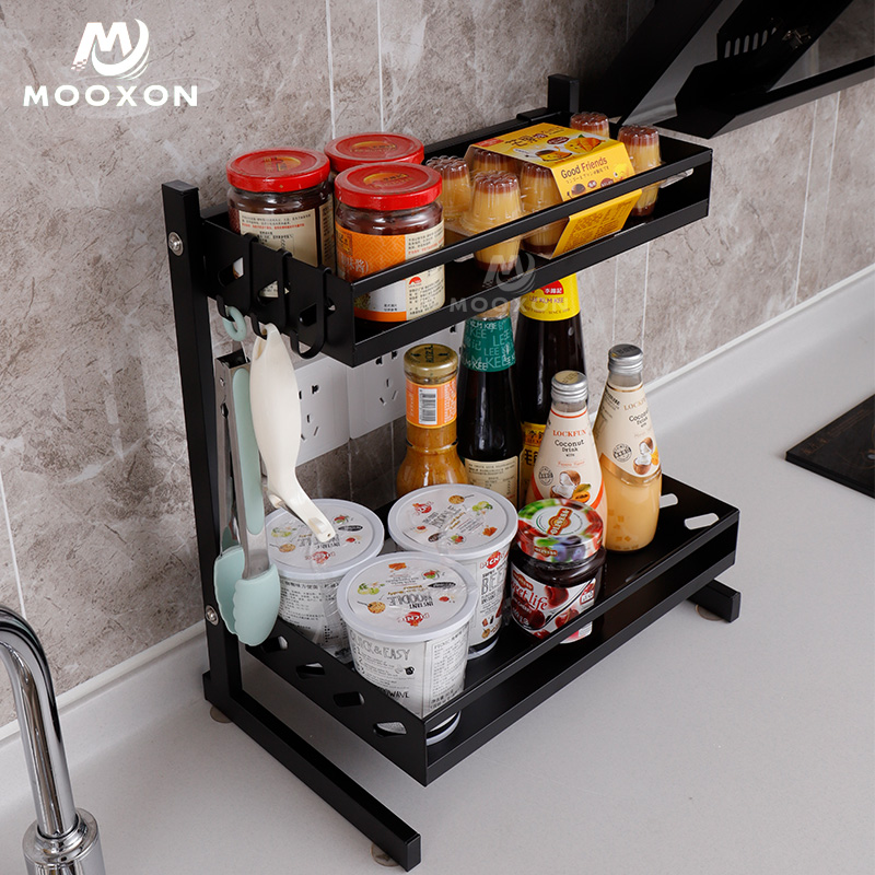 Organization Products 2 /3 Tiers Kitchen Storage Organizer Shelf Standing Spice Rack