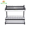 Standing 2 Tiers Kitchen Organizer Storage Shelf Drying Holders Bowl And Dish Drainer Rack