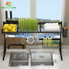 84cm Plate Holder Storage Shelf Dish Drainer Rack Kitchen Sink Drying Organizer