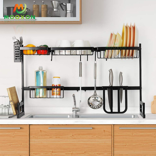 Adjustable Stainless Steel Kitchen Storage Plate Drainer Extendable Dish Drying Rack