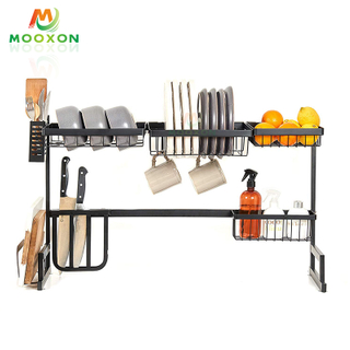 Space Save 95cm Stainless Steel Home Kitchen Storage Holder Bowl Rack