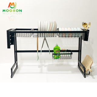 New Style 85cm Stainless Steel Bowl And Plate Drainer Storage Holders Kitchen Organizer Dish Rack
