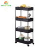 Metal Home 3/4/5 Tiers bathroom Shelf Trolley Cart Rack Kitchen Vegetable Fruit Storage Rack With Wheels