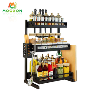 2 /3 Tiers Multipurpose Kitchen Shelf Organizer Holder Standing Type Storage Stand Spice Jar Rack