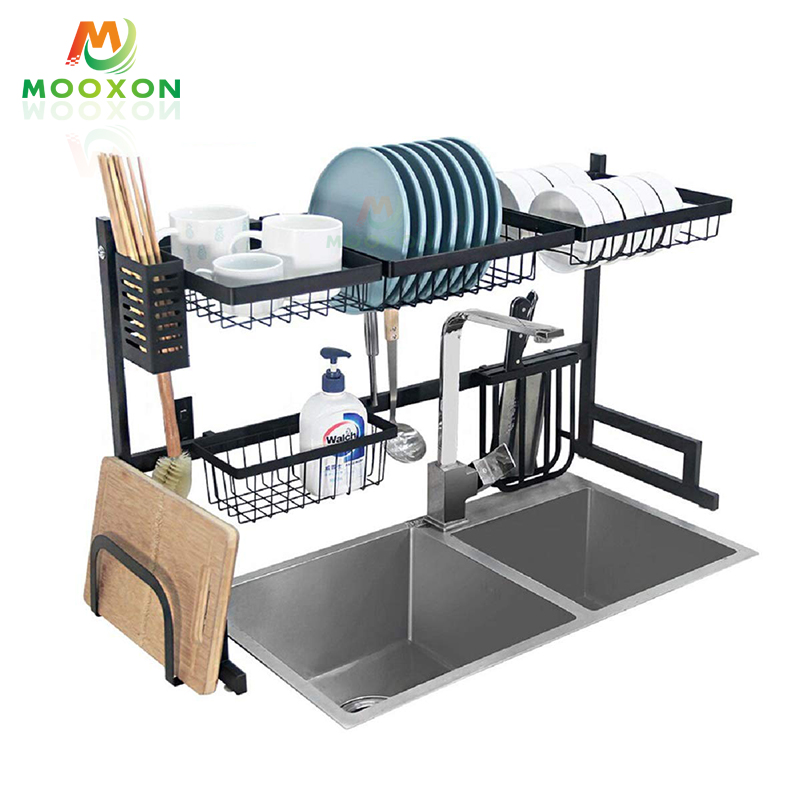 Modern 2-Tier 95cm Stainless Steel Commercial Kitchen Storage Rack